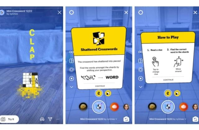 The New York Times brings its crossword to AR