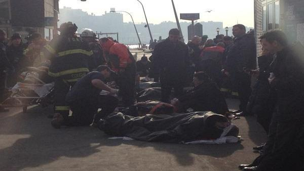 Dozens taken to hospitals after ferry accident