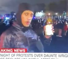 Daunte Wright protester shows CNN his can of soup, mocking 2020 Trump comments