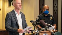 Portland's police chief called out elected officials for not stopping violence in the city, after rioters threw burning debris at the mayor's apartment building