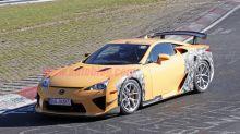 Lexus LFA prototype spied lapping the Nurburgring with new bodywork