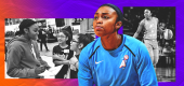 Renee Montgomery was an Atlanta Dream player this time last year. Now she's a part owner of the team. (Yahoo Sports graphic)