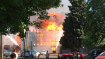 Fire Tears Through Eugene Stadium