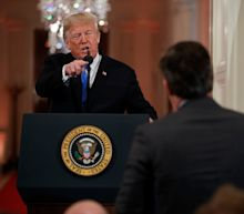 Trump squabbles with CNN's Jim Acosta over Russia coverage during news conference in India
