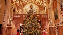 Queen's Christmas decorations go up in Windsor Castle as monarch prepares for 'quiet' festive season
