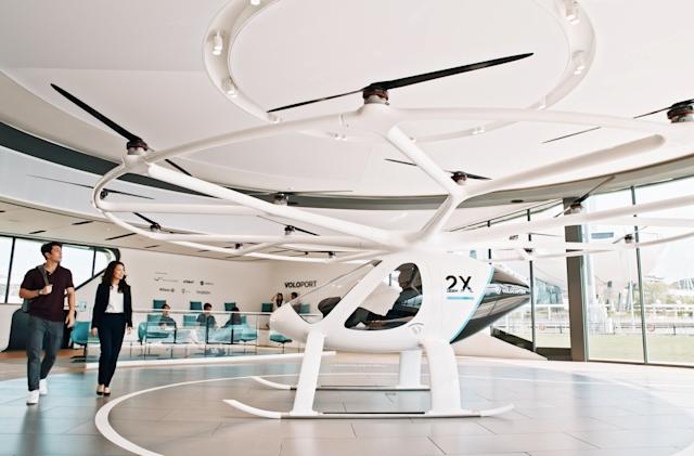 Volocopter opens reservations for first electric air taxi flights