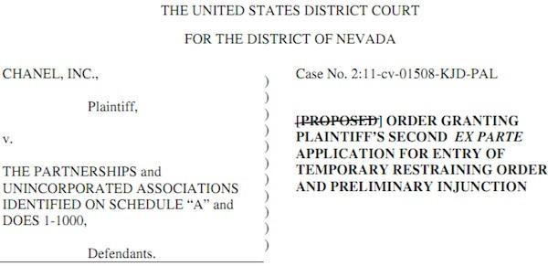 Chanel counterfeiters beware: US federal court orders domain names seized and de-indexed