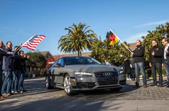 Audi's self-driving car is traveling 550 miles to Las Vegas