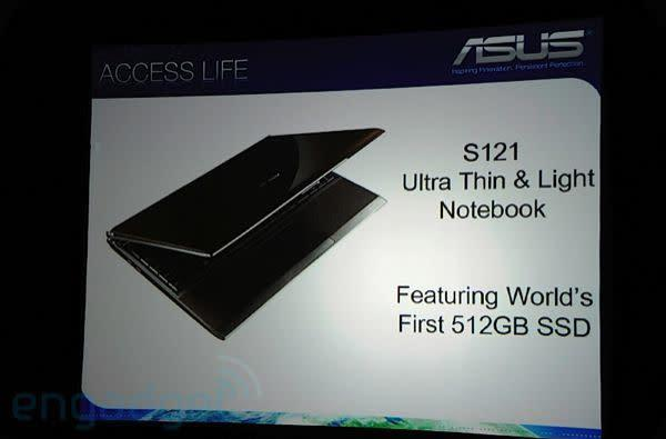 ASUS' S121 with world's first 512GB SSD