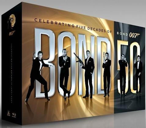 'Bond 50' 22 movie Blu-ray collection details revealed, ships in September (video)