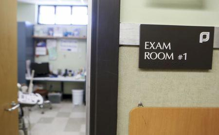 An exam room at the Planned Parenthood South Austin Health Center is shown in Austin