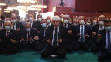 Erdogan joins first Muslim prayer in Hagia Sophia as mosque