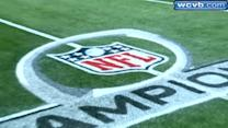 AFC Championship logos painted on Gillette Field