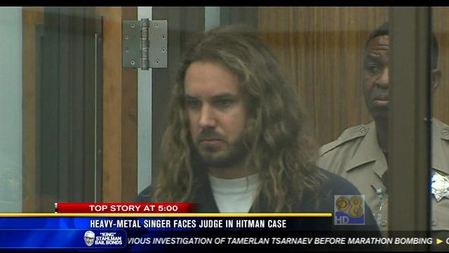 Heavy metal singer faces judge in hitman case