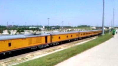 Raw Video: Train Moves On After CWS
