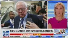 Laura Ingraham claims Bernie Sanders will be the 'juggernaut' Donald Trump was in 2016