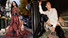 Bruna Marquezine e Isis Valverde assistem desfile em Paris com looks poderosos