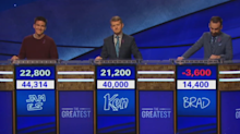 Ken Jennings and James Holzhauer continue to dazzle as Brad Rutter struggles on 'Jeopardy!'