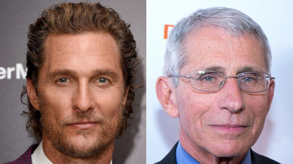 Matthew McConaughey grills Dr. Anthony Fauci in Instagram interview on COVID-19