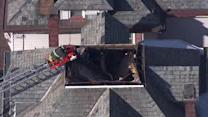 Roofer freed after collapse in Hamilton Township