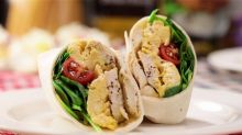 Lemony Greek Yoghurt Chicken Wrap