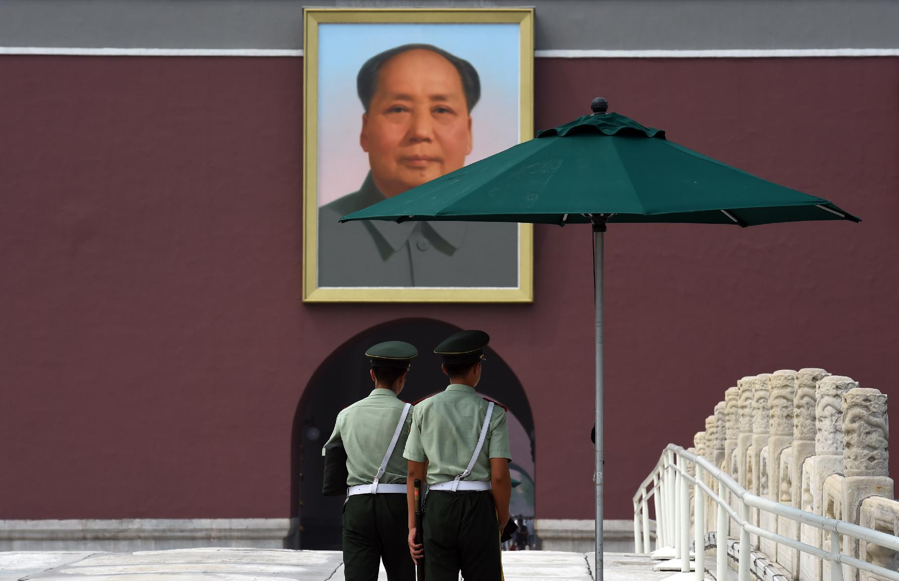 A file photo of Beijing's Tiananmen Square. Leaders of China's ruling Communist Party opened a highly-anticipated meeting Monday (AFP Photo/Greg Baker)
