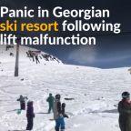 Ski lift malfunction in Georgia sends people in panic