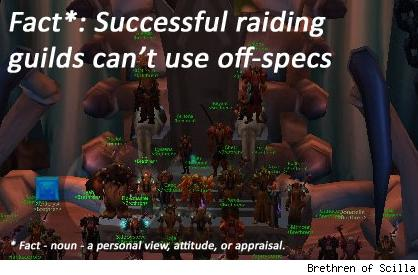 Hybrid Theory: Getting into raids as an off-spec