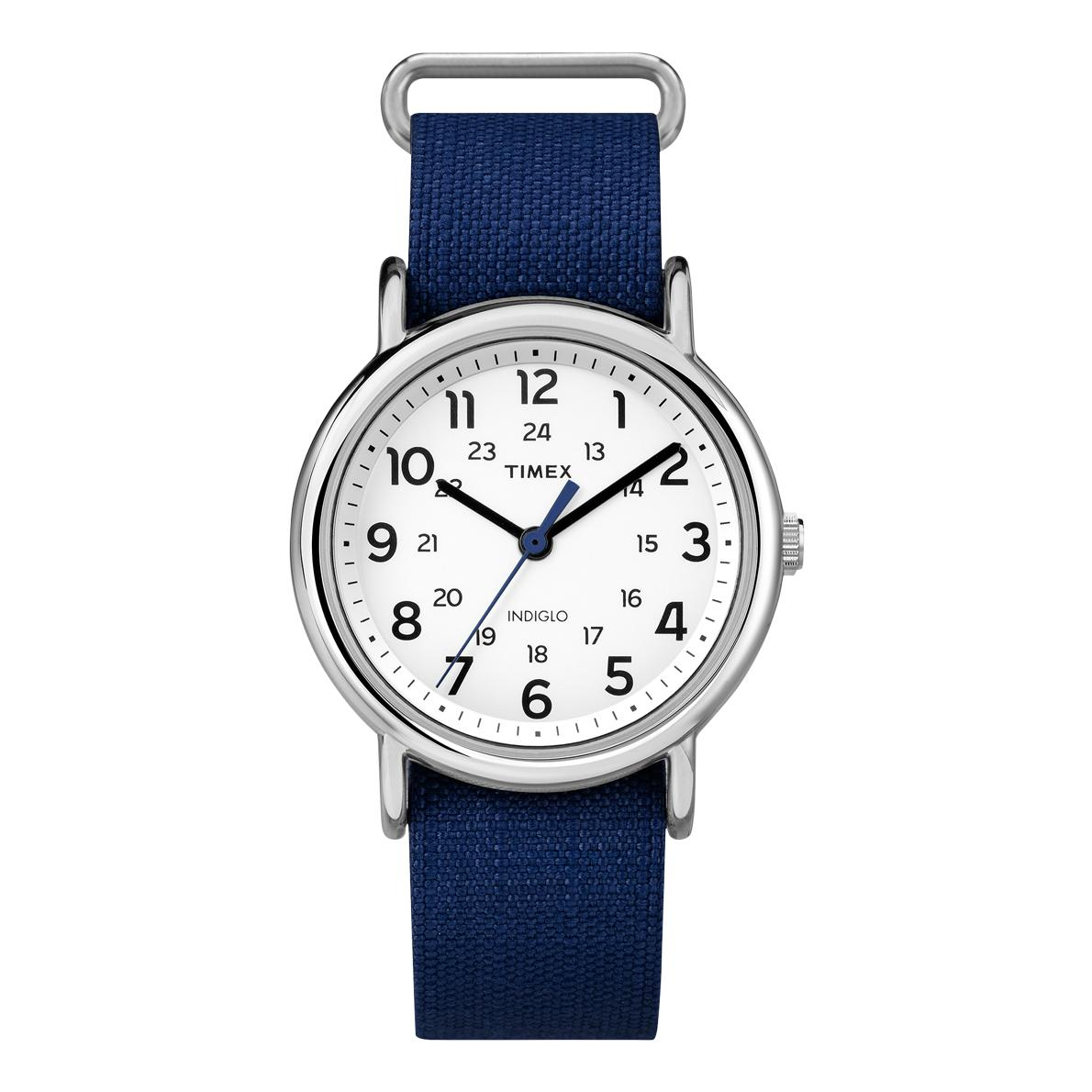 """<p>Here's a smart watch that's intended for men and women, and works with casual and professional outfits. Plus, it's available in dozens of strap colors.</p> <p>$28   <a href=""""https://www.amazon.com/Timex-Unisex-TW2P657009J-Weekender-Silver-Tone/dp/B00PUDQI5S?th=1"""" rel=""""nofollow noopener"""" target=""""_blank"""" data-ylk=""""slk:Amazon"""" class=""""link rapid-noclick-resp"""">Amazon</a></p>"""