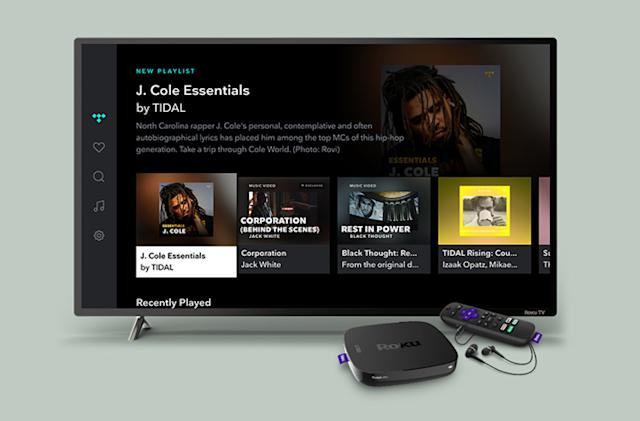 Tidal brings its streaming music and videos to Roku