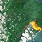Satellites in space see lava pouring from Hawaii's Kilauea volcano