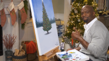 NBC is Streaming Terry Crews Painting in Front of a Crackling Fireplace