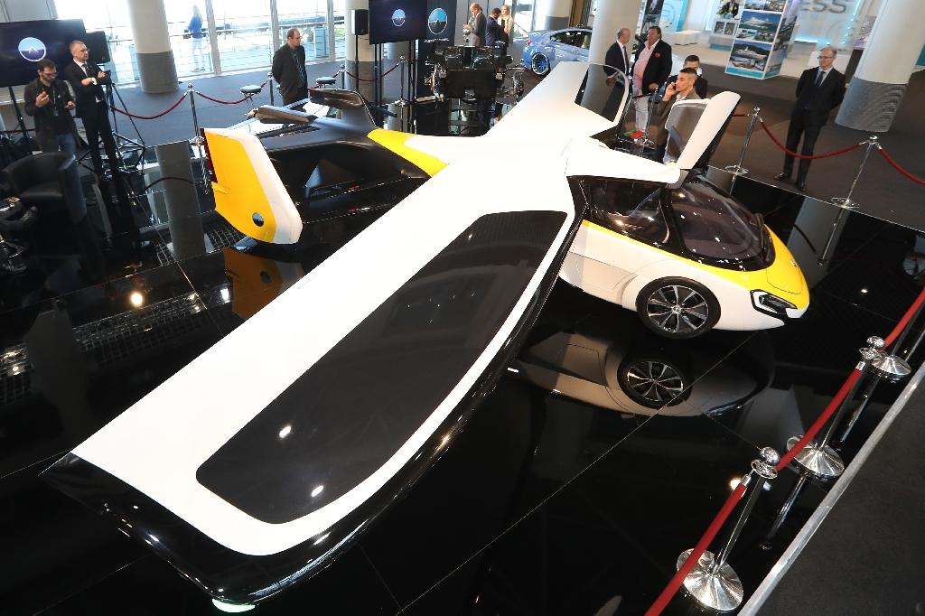 Slovak company Aeromobil's hybrid car/plane vehicle will cost up to 1.5 million euros (AFP Photo/VALERY HACHE)