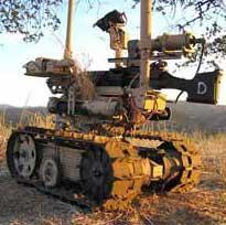 Remotely controlled armed robots deployed in Iraq