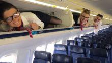 Say Squeeze! Flight Attendants Pose in Overhead Bins on Instagram