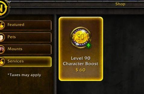 World of Warcraft instant level 90 boost price revealed at $60 US