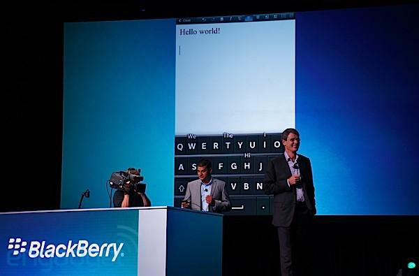 RIM shows off BlackBerry 10 touch keyboard with gesture support