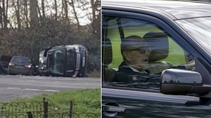 Police speak to Prince Philip about over seatbelt