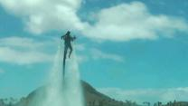 Soaring High Over Water, Thrill-Seekers Fly