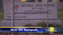 Central Unified HS student caught with gun on campus