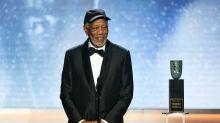 Morgan Freeman tells off audience member for talking during SAG Awards speech