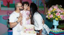 Belo e Gracy celebram aniversário da neta com festa de R$ 150 mil
