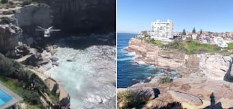 Woman 'taking photos' dies after falling off Sydney cliff