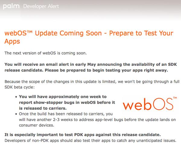 webOS update coming soon, PDK apps likely to land
