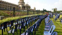 Preparation ahead of swearing-in ceremony of Kumaraswamy