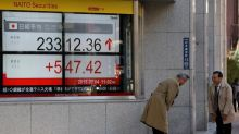 World shares snap five-day losing streak on China policy easing
