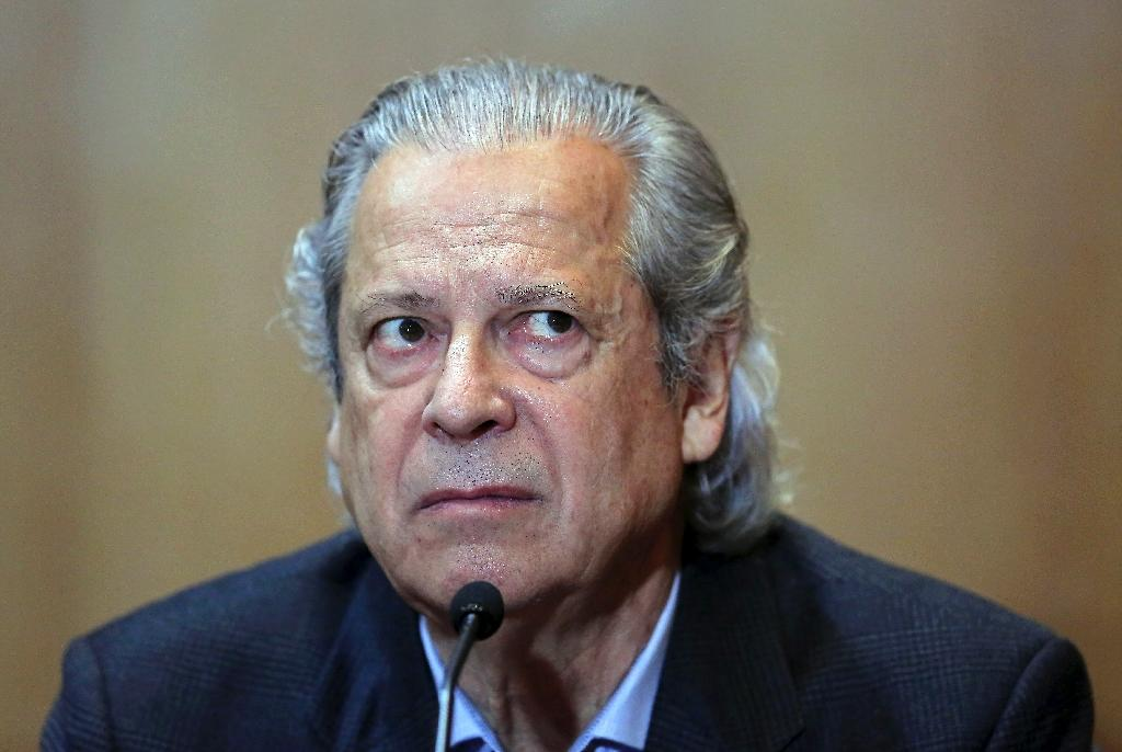 Jose Dirceu, 72, a former right-hand man to ex-president Luiz inacio Lula da Silva, has been tempoarily released from jail where he is serving an almost 31-year sentence for corruption (AFP Photo/Heuler Andrey)
