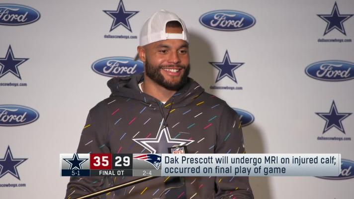 Dak Prescott talks about his calf injury sustained in Week 6