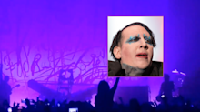 Marilyn Manson hospitalised after stage set fell and crushed him mid-concert