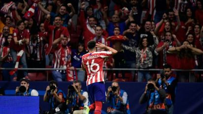 Herrera snatches point for Atletico with late Juve strike